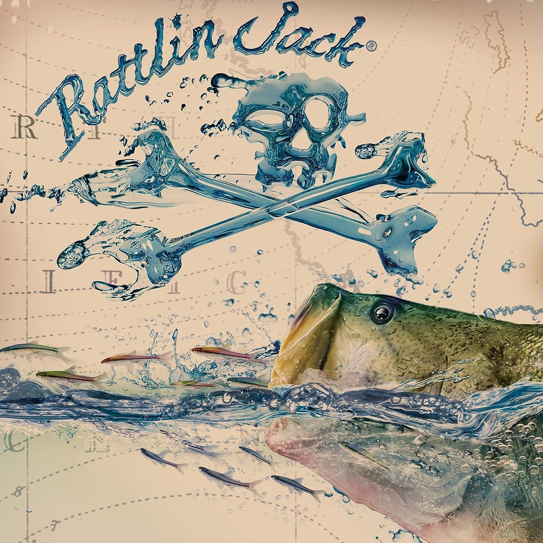 Rattlin Jack Mens UPF 50 Long Sleeve Bass Fishing Shirt Surface Water