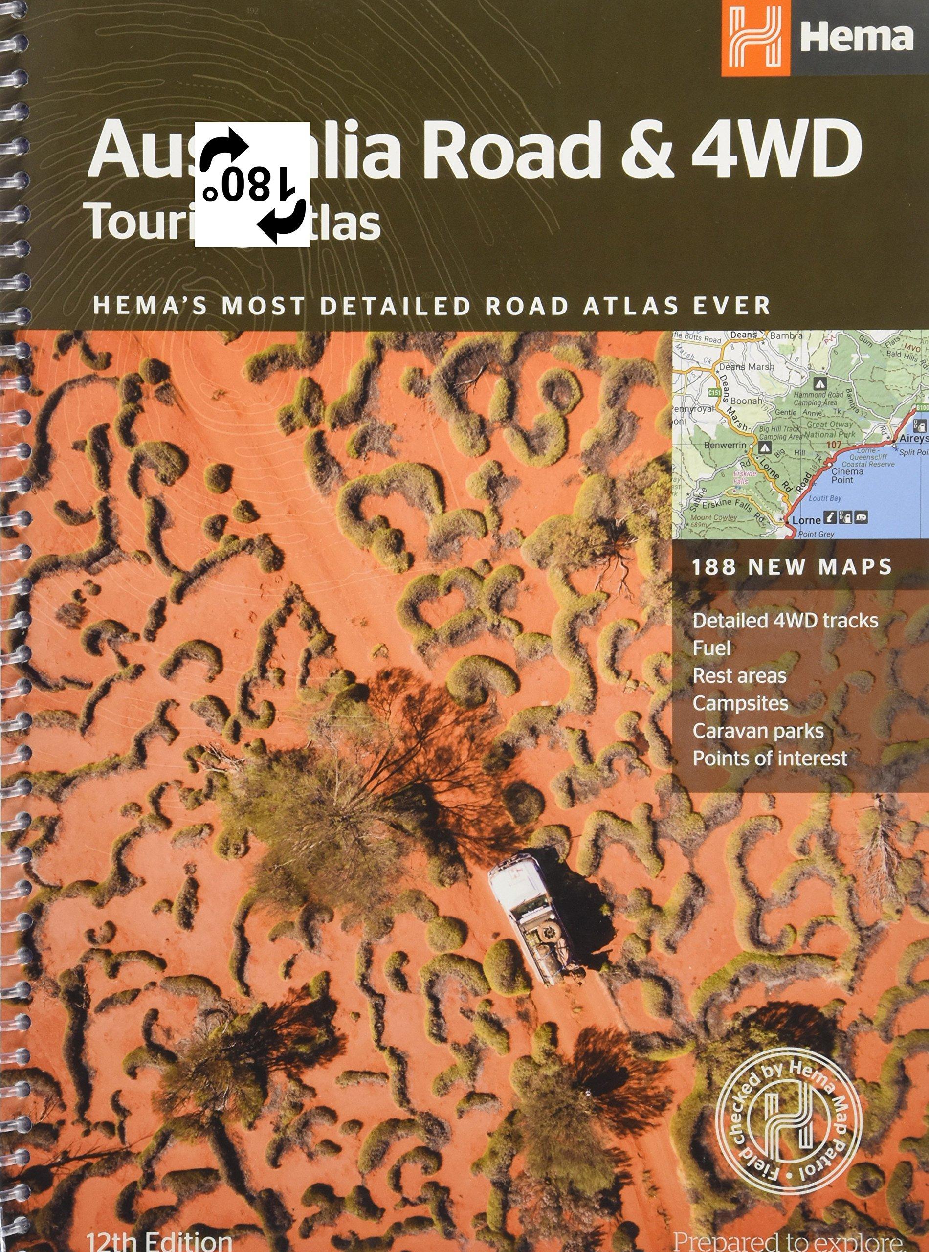 Australia Tour Map.Australia Road 4wd Touring Atlas A4 Amazon Co Uk Hema Maps