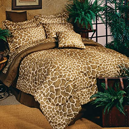 Amazon.com:   Brown Giraffe Complete Bed Set   Twin XL: Home & Kitchen