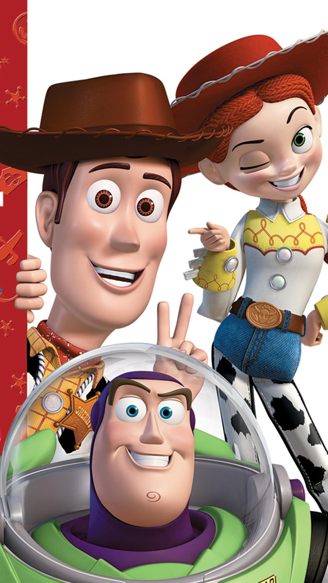 ディズニー 『トイ・ストーリー』バズ,ウッディ,ジェシー フルHD(1080×1920)スマホ壁紙/待受画像