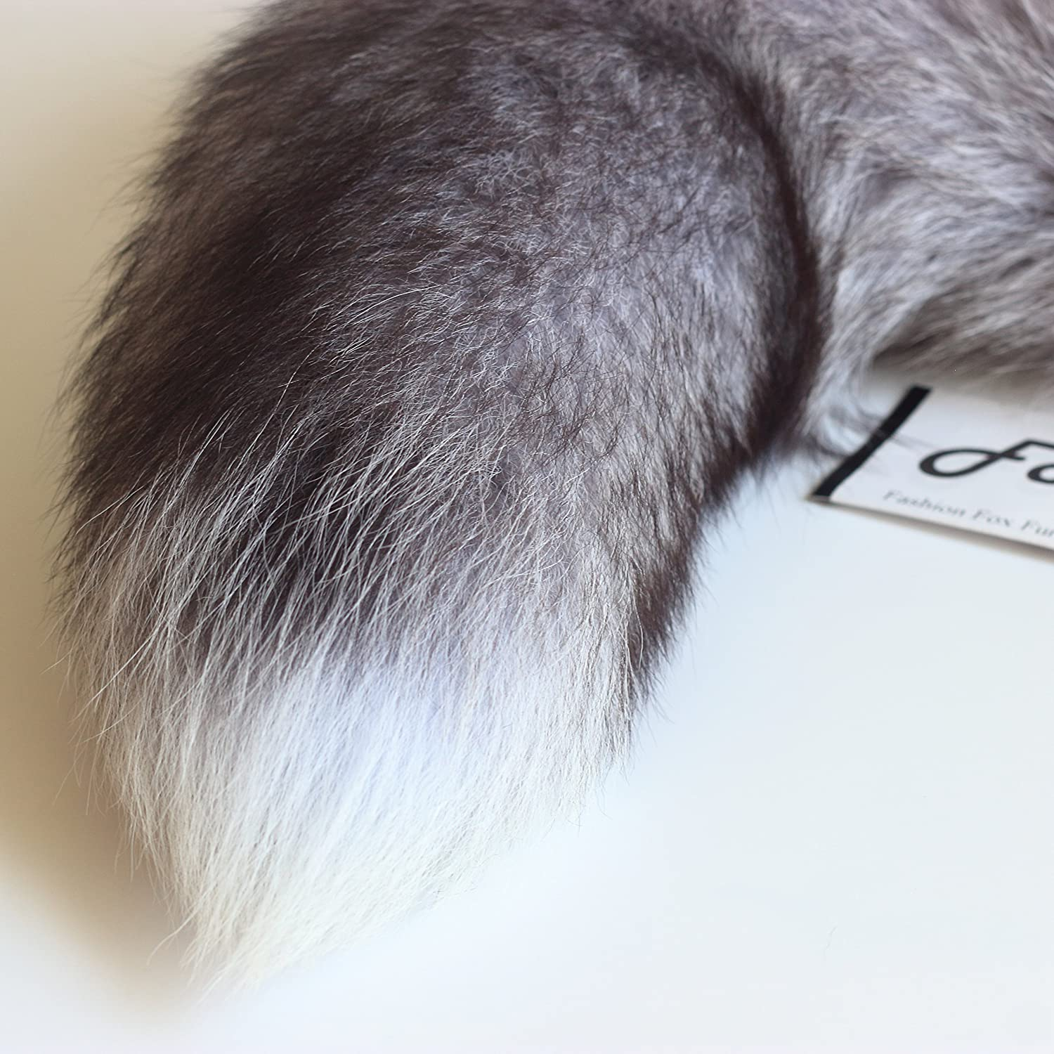 Fosrion Supper Huge and Fluffy Real Fox Tail Fur Halloween Cosplay Toy Handbag Charm Accessory Key Chain Ring Hook Tassels