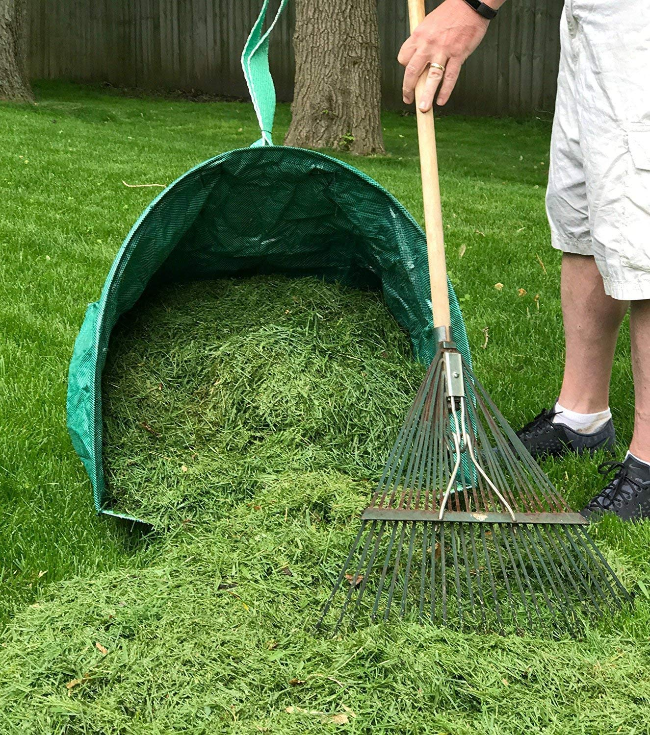 Pop Up Multipurpose Garden Tool, CSDust2 Leaf Collector and Lawn Garden Bag