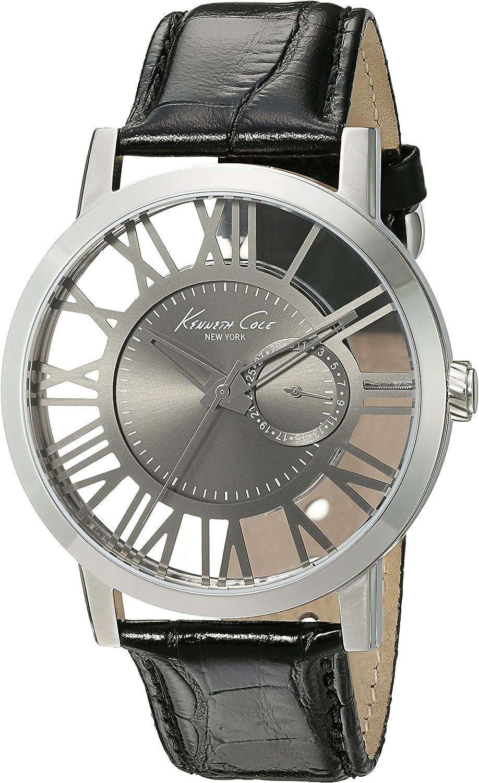 Kenneth Cole New York Men s 10020809 Transparency Analog Display Japanese Quartz Black Watch
