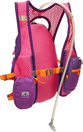 Nathan Hydration Running Vest – 2 Liter Hydration Pack with Bite Valve – Smartphone Compatible Pocket for Storing Essentials – Designed Specifically for Women Very Berry Color
