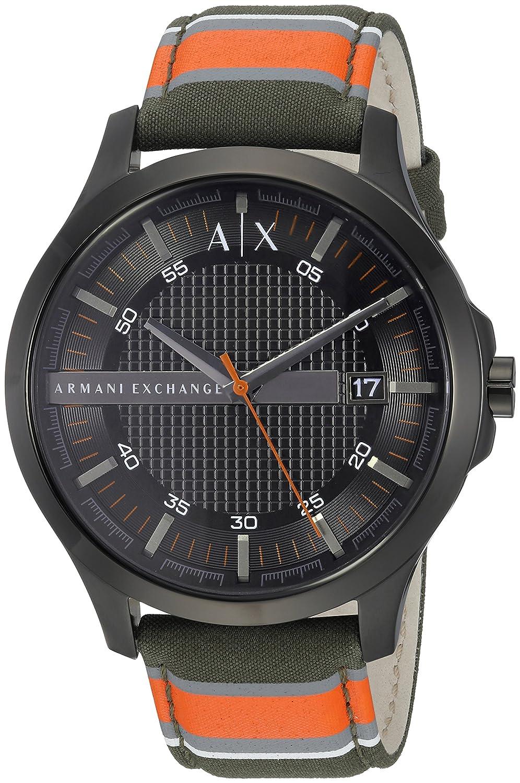 Armani Exchange Men s AX2198 Orange and Green Fabric Watch