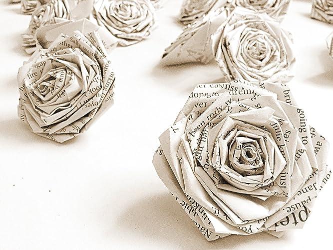 Book paper flowers roses rose vintage home wall dcor wedding table book paper flowers roses rose vintage home wall dcor wedding table novel literary wall art mightylinksfo