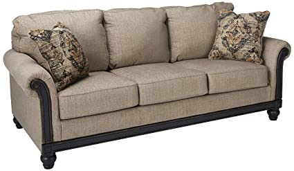Superbe Ashley Furniture Signature Design   Blackwood Traditional Style Sleeper Sofa    Queen Size Mattress Included