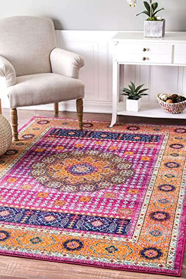 Amazon.com: Contemporary Living Room Rugs Vivid Colors Soft Pile Rug ...