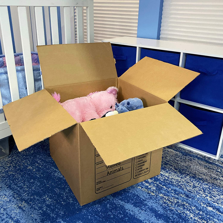 Uboxes 12 Premium Medium Moving Boxes 18x18x16 Cardboard Box