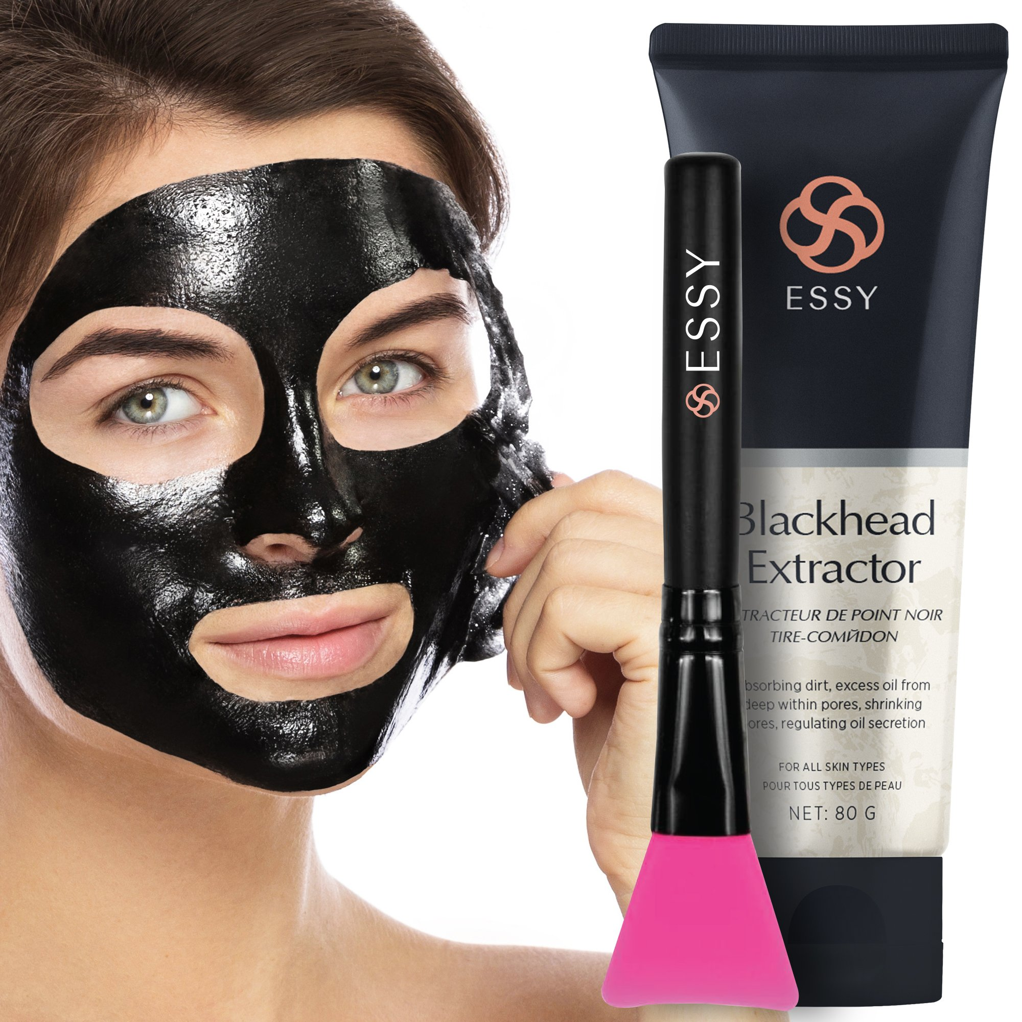 Black Peel off Mask,Charcoal Blackhead Remover Mask 80 gram- Deep Cleansing Mask, Deep Pore Cleanse for Acne, Oil Control, and Anti-Aging Wrinkle Reduction by AsaVea (Image #3)
