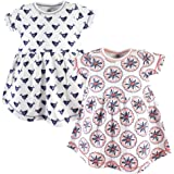 Yoga Sprout Baby Girls' Cotton Dress, 2 Pack