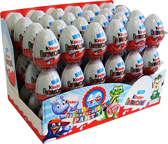 Kinder Surprise - Huevo de Chocolate - 20g - Paquete de 72: Amazon.es: Alimentación y bebidas