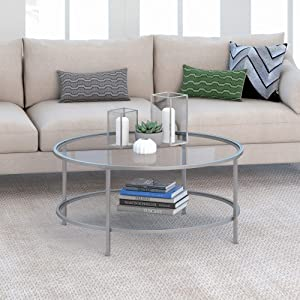 Henn&Hart Round coffee table, Silver