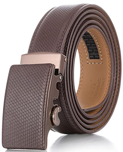 Marino Men�s Genuine Leather Ratchet Dress Belt With Automatic Buckle, Enclosed In An Elegant Gift Box