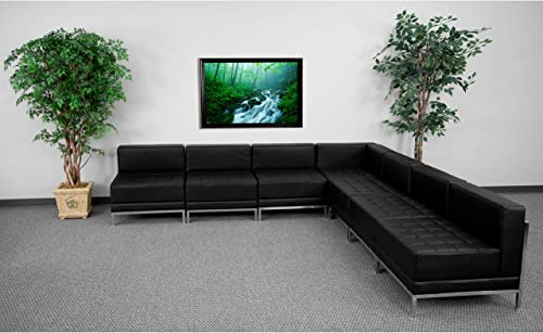 Flash Furniture HERCULES Imagination Series Black LeatherSoft Sectional Configuration