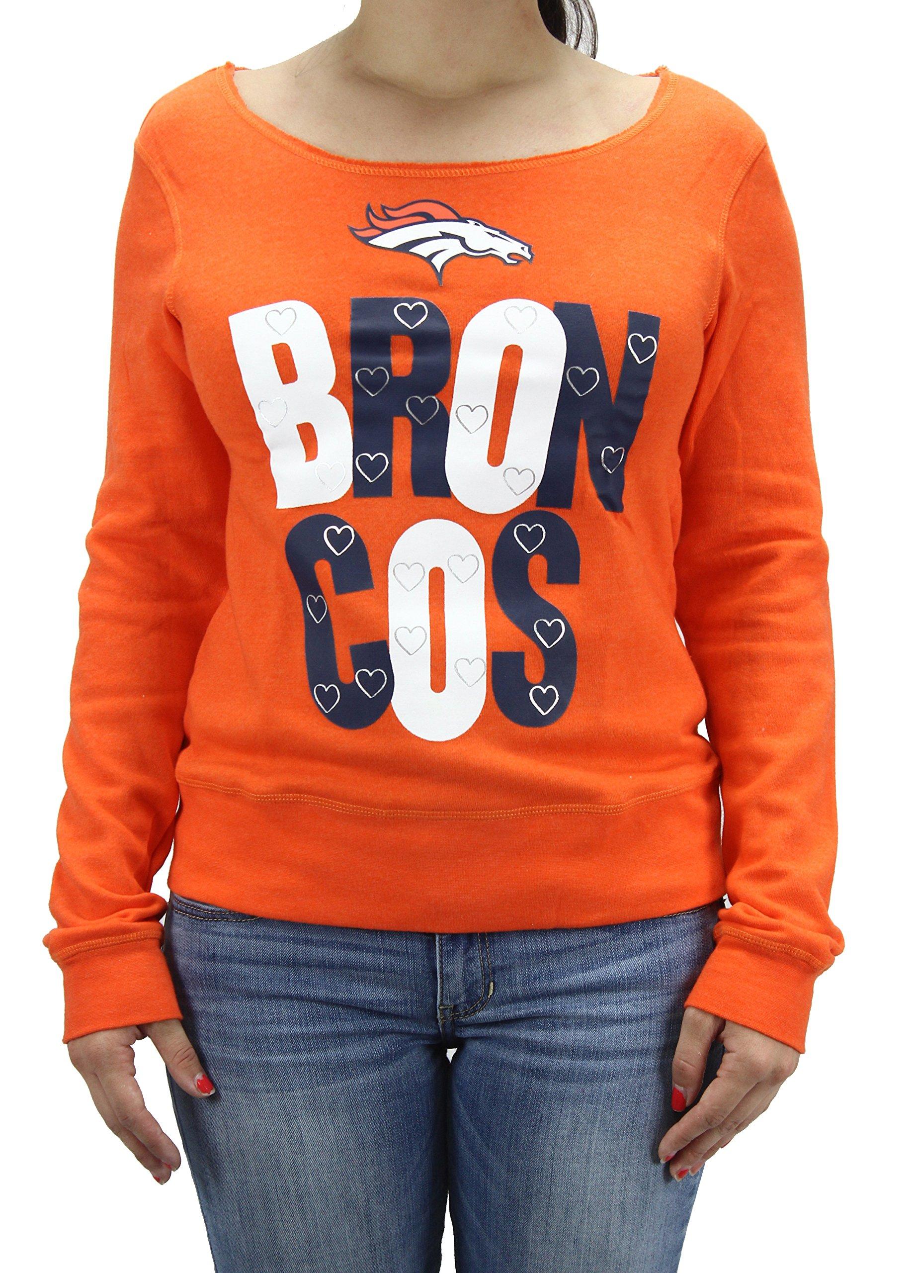 Team Apparel Nfl Girl S Denver Broncos Sweat Shirt 5694
