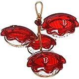 Birds Choice CQC-RED Copper Quad Cup Hummingbird Feeder, 3oz