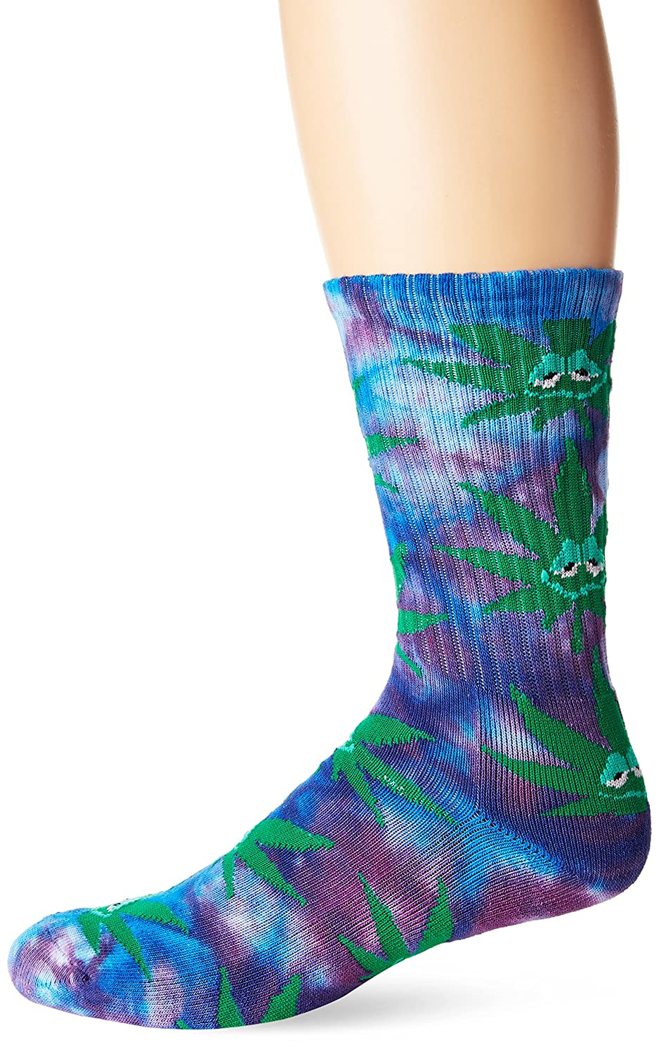 30e8988a9a5c7 Amazon.com: HUF Men's Green Buddy Crew Sock, pink One Size: Clothing