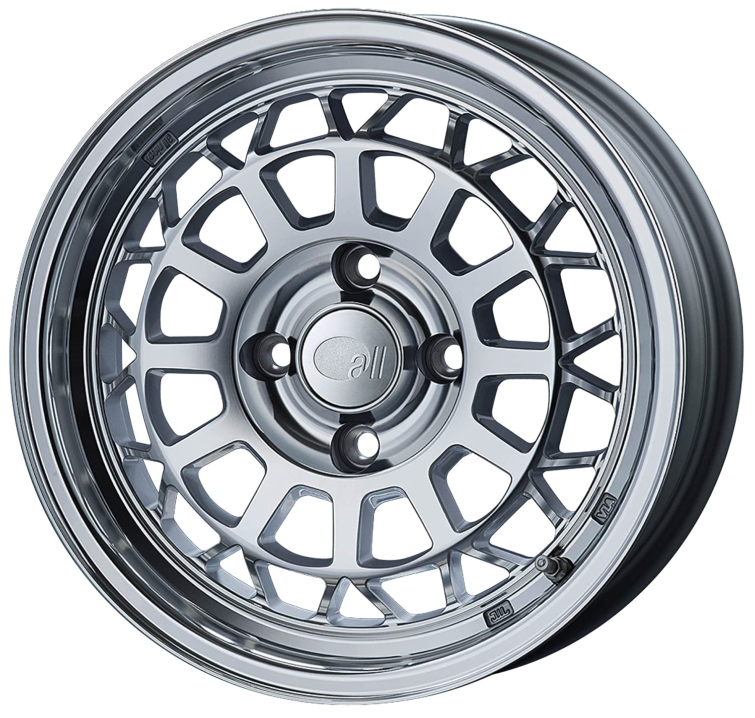エンケイ アルミホイール all nine 15 x 6.0J +35 4H 98 Mirror Polish AL9-560-35-4B-MF B06VV4D84C