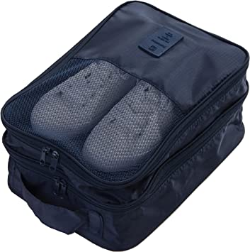 2 Layer Portable Waterproof Travel Shoe Bags Zipper Pouch Storage Organizer US