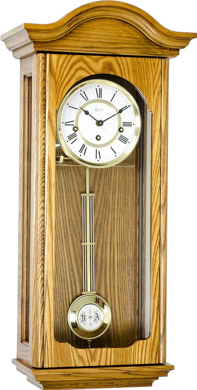 Hermle Brooke Mechanical Key Wound Wall Regulator Clock In Cherry Finish Amazon In Watches