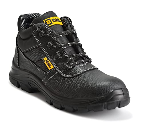 9901a403d111f Black Hammer Mens Safety Boots Work Waterproof Shoes Leather Steel Toe Cap  Working Ankle Lightweight Footwear S3 SRC 1007