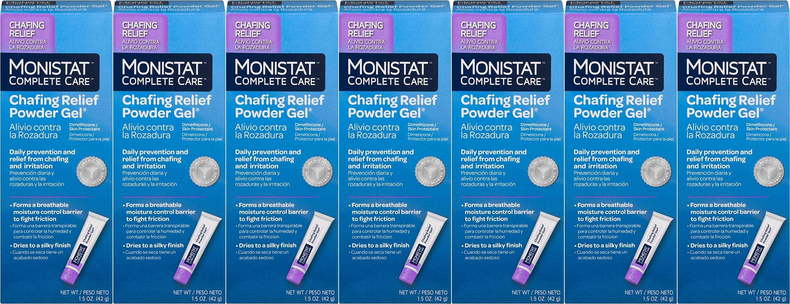 MONISTAT Chafing Relief Powder Gel 1.5 oz (Pack of 7)