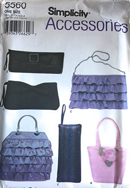 Amazon.com: Simplicity 5560 Accessories Patterns, Bag Patterns,Purse ...