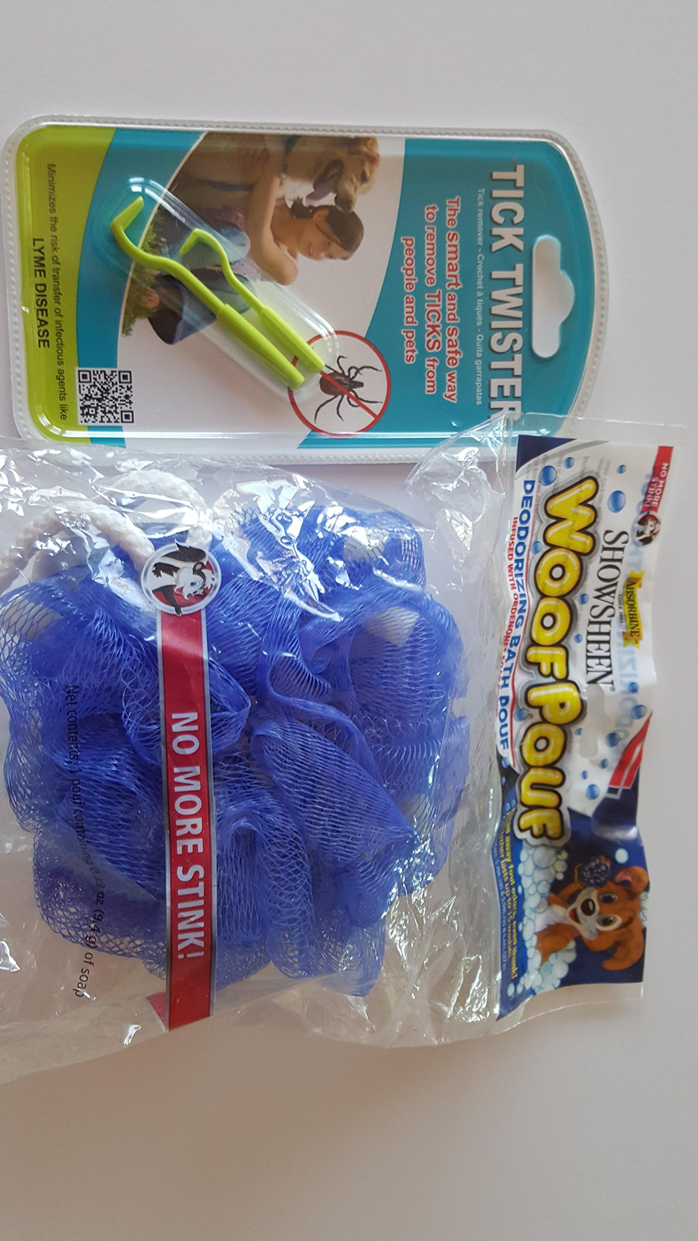 Tick Twister Removal / WoofPouf deodarizes the coat naturally ( Mike's Instinct BUNDLE PACK) -non toxic - natural - flea prevention,- tick removal