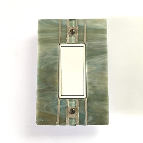 Amazoncom Glass Switch Plate Green Light Switch Cover Outlet