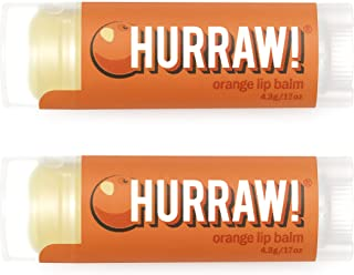 product image for Hurraw! Orange Lip Balm, 2 Pack: Organic, Certified Vegan, Cruelty and Gluten Free. Non-GMO, 100% Natural Ingredients. Bee, Shea, Soy and Palm Free. Made in USA
