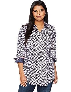 42e389bd203 Foxcroft Women s Plus Size Vera Solid Non Iron Tunic at Amazon ...