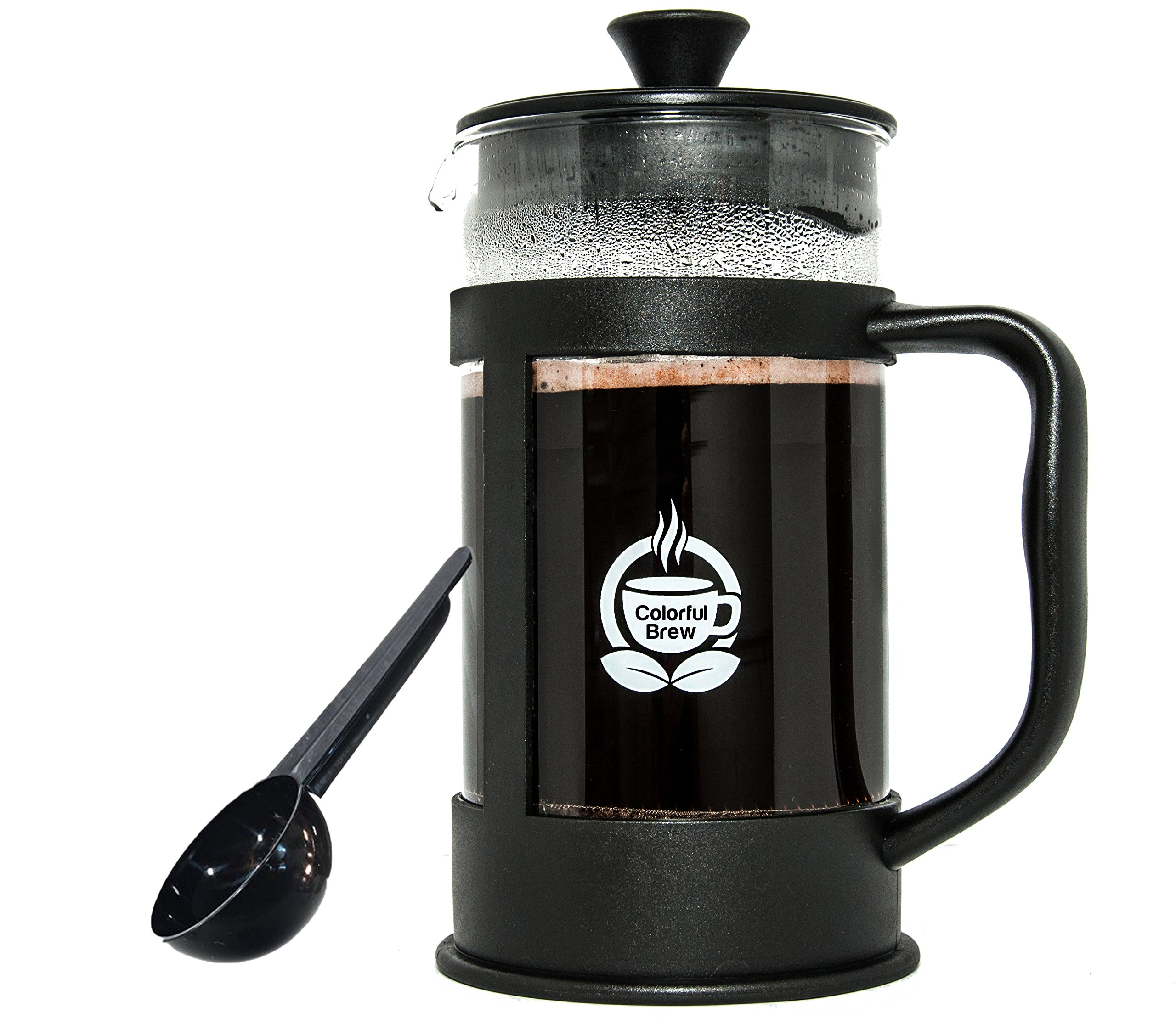 French Press Coffee Maker Large 34 Ounces Strongest and Thickest Glass by Colorful Brew