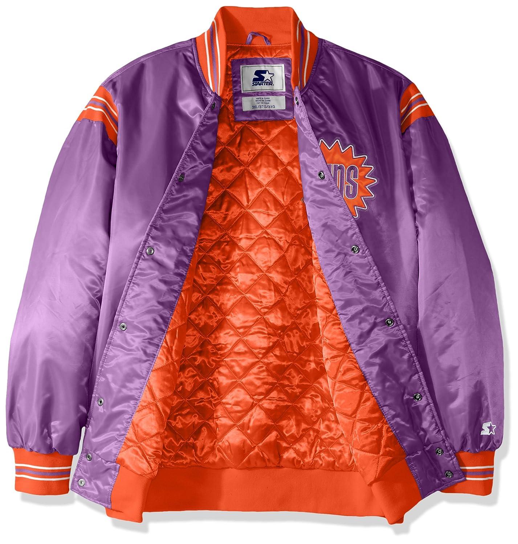4X Purple Starter Adult Men The Enforcer Retro Satin Jacket