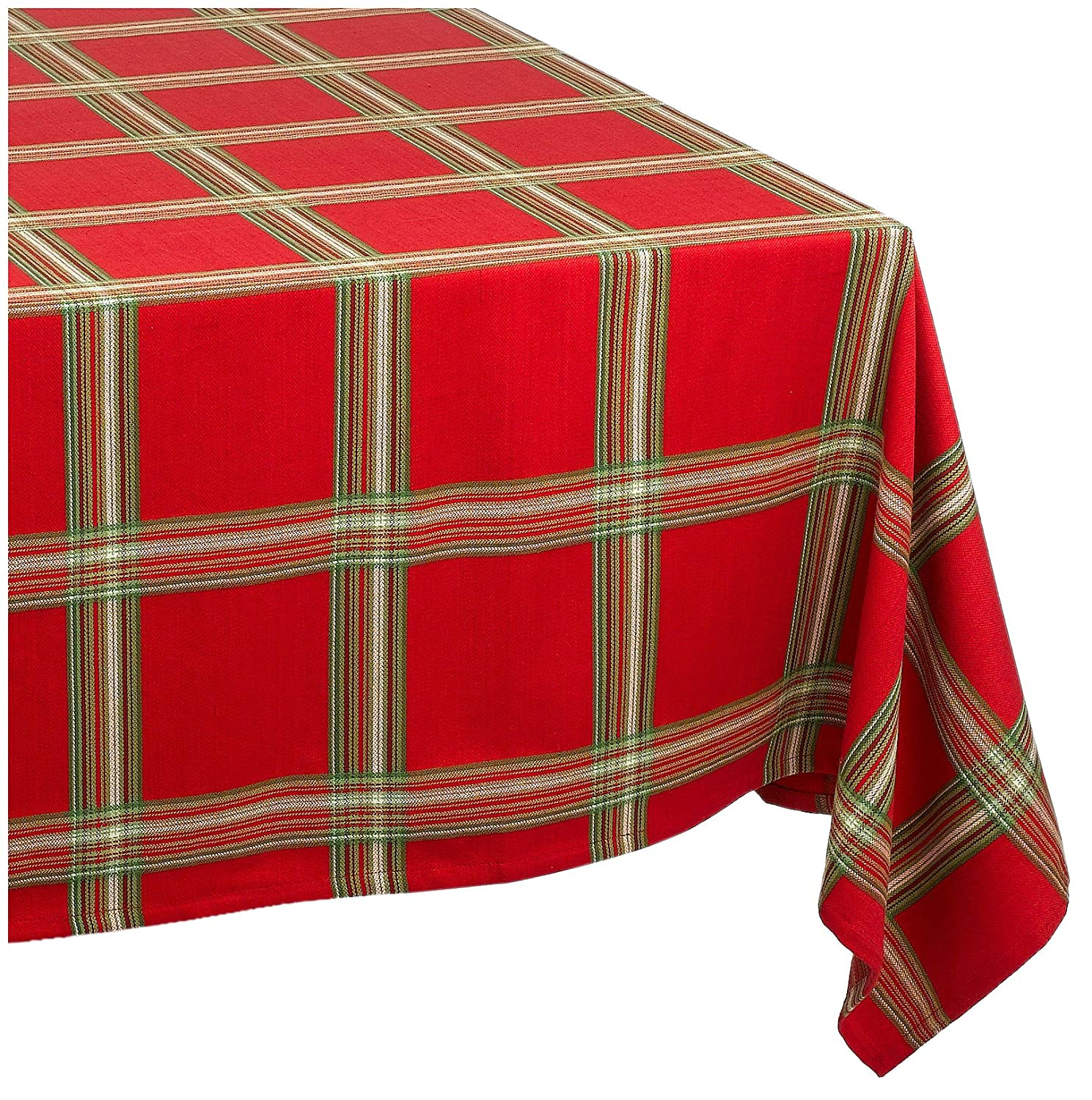 Amazon.com: Lenox Holiday Gathering Plaid Tablecloth, 60 By 120 Inch  Oblong/Rectangle: Home U0026 Kitchen