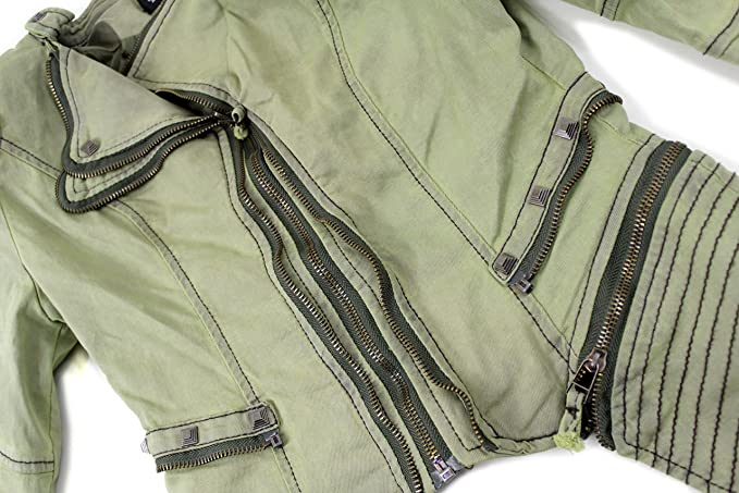 design jacke gr 152 echolove mädchen kinder olivgrün nieten sale
