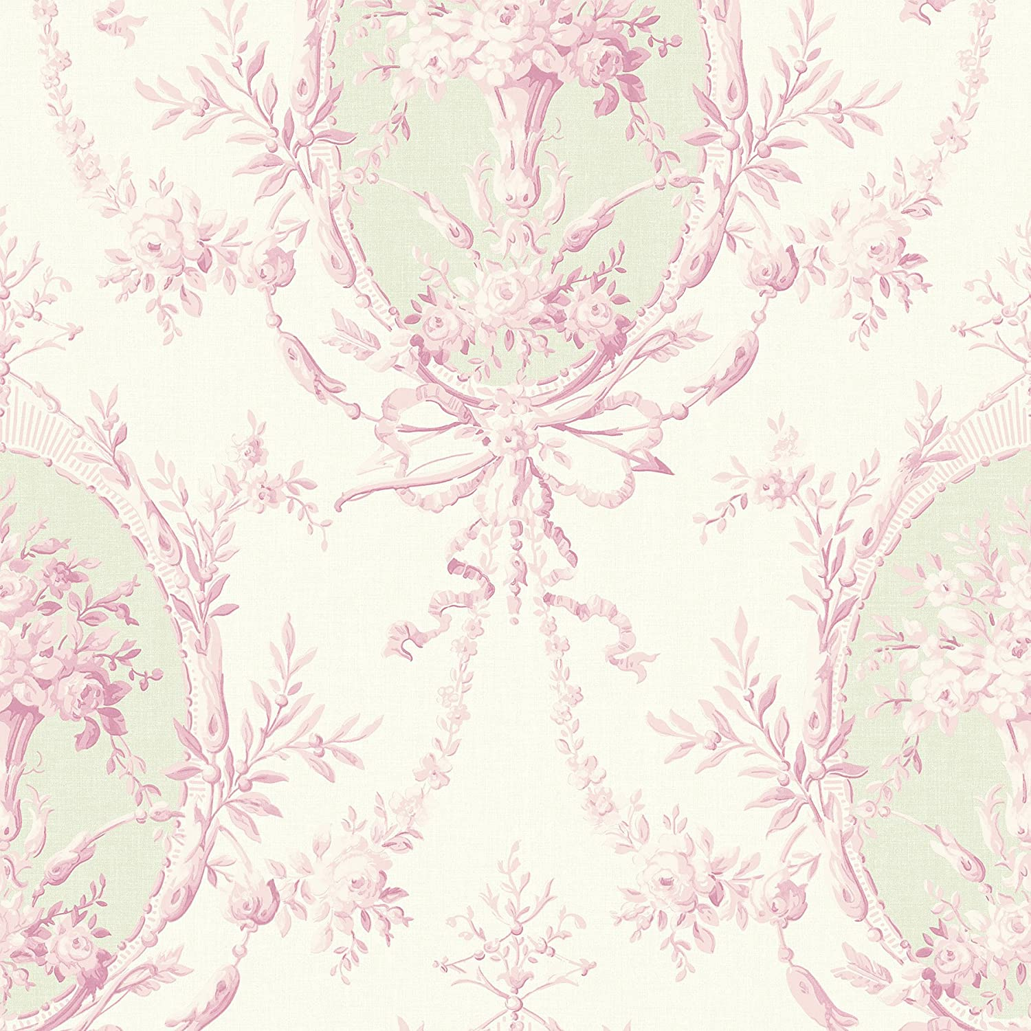 Fairwinds Studio 291-71901 Willow Cottage Light Pink Cameo Wallpaper Brewster Wallcovering Co