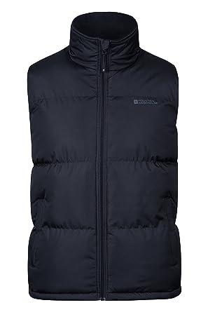 ca06f9936016f Mountain Warehouse Gilet Rembourré Rock Hommes - Imperméable, col doublé en  Polaire, Ourlet Ajustable, Chaud et Confortable - Idéal pour Un Usage ...