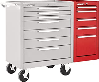 """product image for Kennedy Manufacturing 205R 14"""" 5-Drawer Industrial Side Cabinet, Industrial Red"""