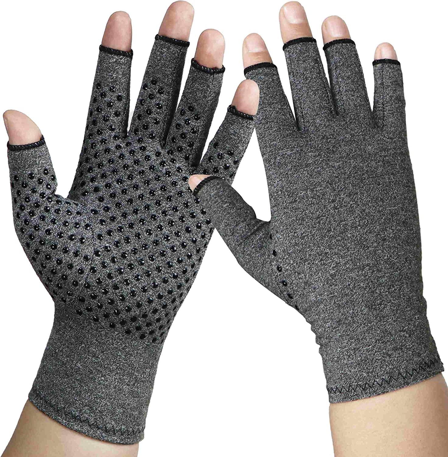 Arthritis Gloves Compression Glove for Arthritis for Women and Men-Ease Rheumatoid, Osteoarthritis Swelling,Osteoarthritis,Muscle Tension and Computer Typing (1 Pair) (M)