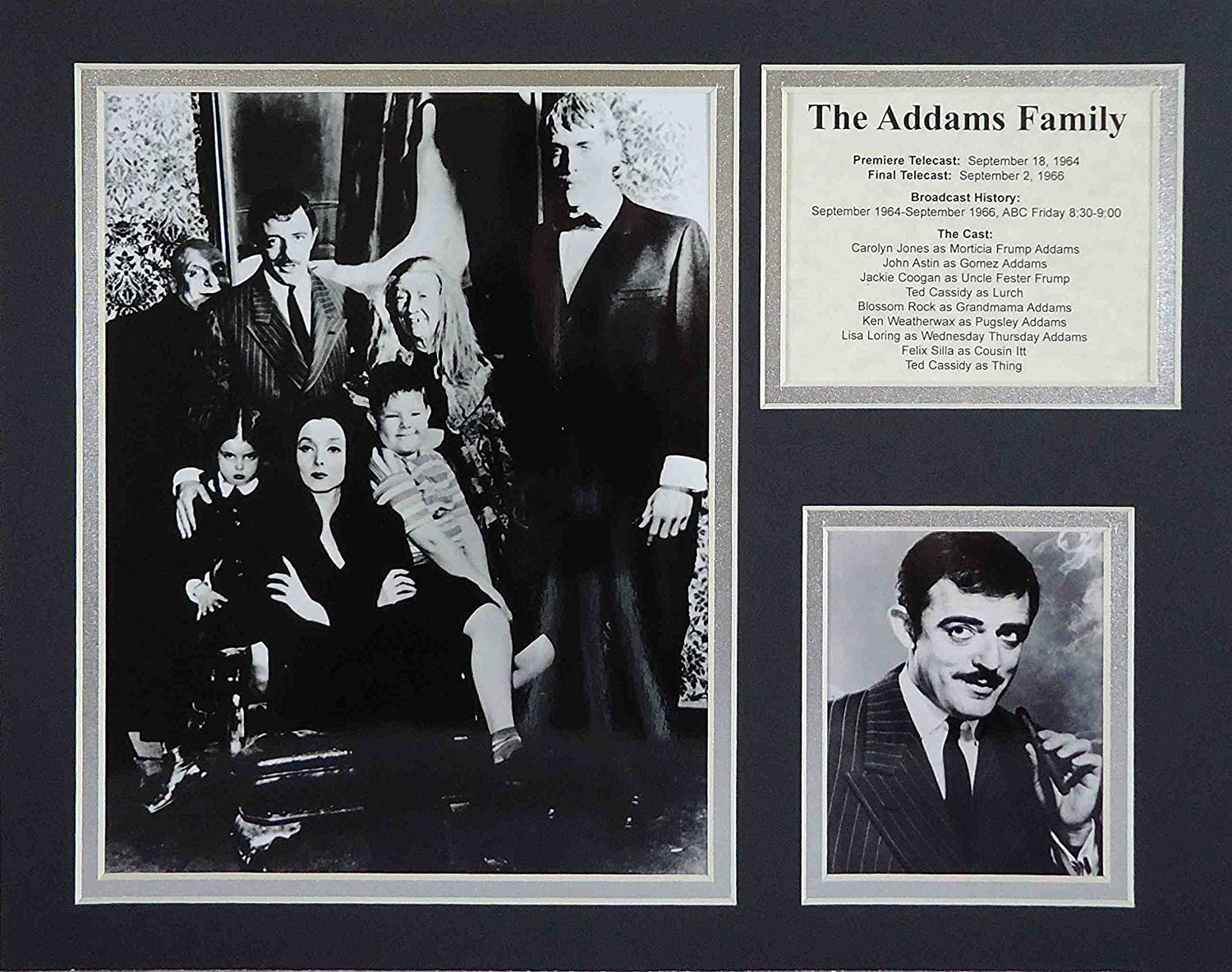 """The Addams Family 11"""" x 14"""" Unframed Matted Photo Collage by Legends Never Die, Inc."""