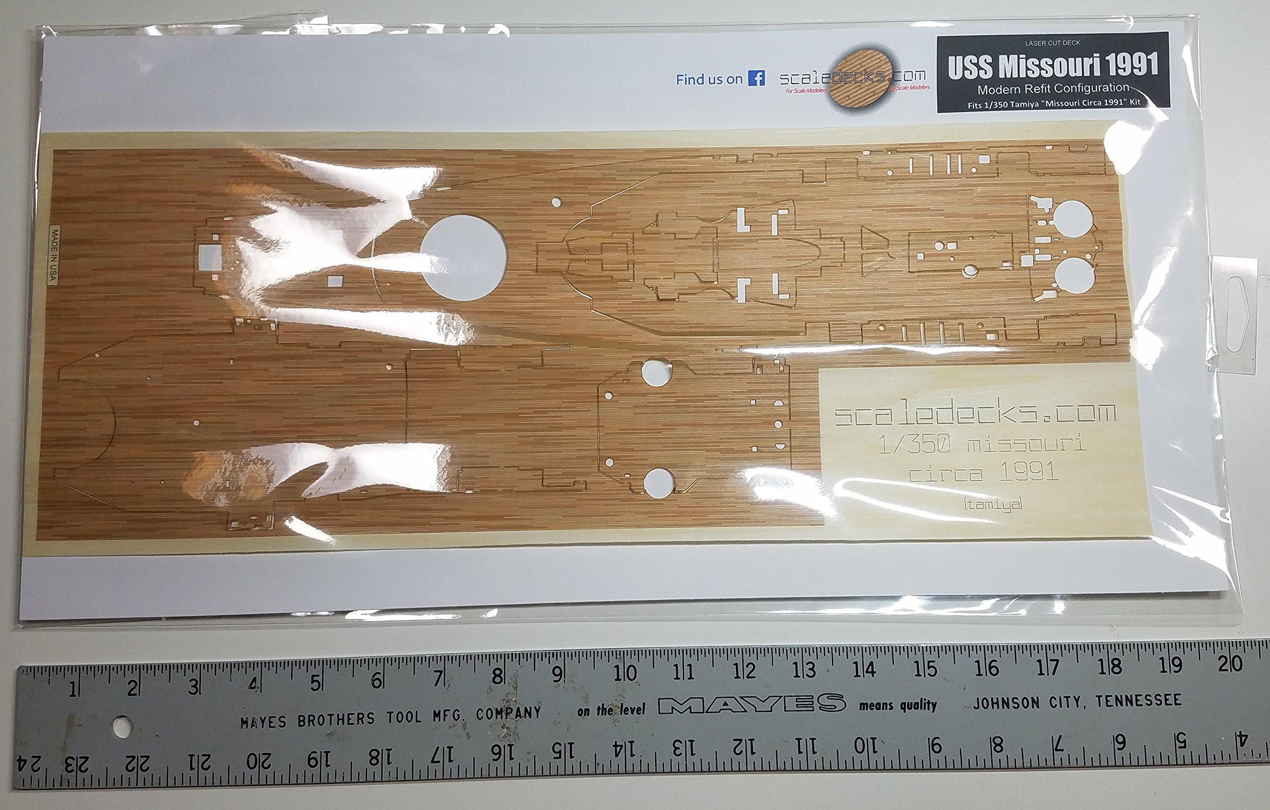 Premium Wood Deck for 1/350 USS Missouri Circa 1991 (fits Tamiya Kit)