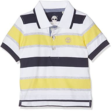 Timberland Short Sleeve Polo, T-Shirt Bébé Gar?on, (Lemon 544), 0-12 Mois (Taille du Fabricant:09M)