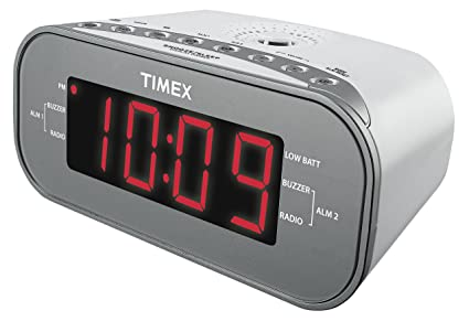 Amazon Timex T231w2 Amfm Dual Alarm Clock Radio With 12 Inch