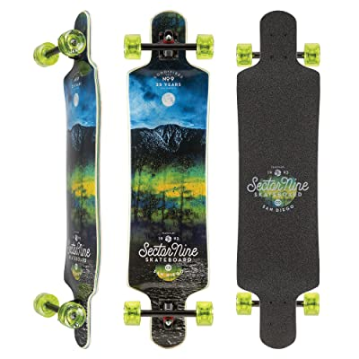Sector 9 Midnight Fault Line 39 Inch Maple Top Mount Longboard for Carving, Commuting, and Freeride: Sports & Outdoors