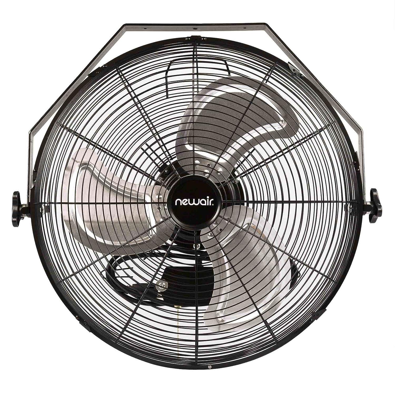 NewAir Wall Mount Fan, 18 High Velocity Industrial Shop Fan with 3 Speed Settings, WindPro18W