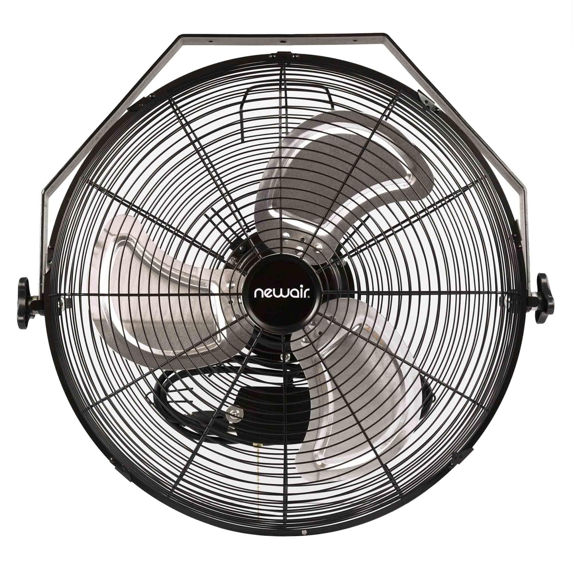 NewAir Wall Mount Fan, 18'' High Velocity Industrial Shop Fan with 3 Speed Settings, WindPro18W by NewAir