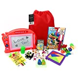 Kakembo Prime Travel Activity Bag Kids. Full Travel Games Travel Toys. Great Road Trip Airplane Activities Kids. Includes 12 Premium Items Like Wikki Stix, Activity Book, Cars. Ages 3+