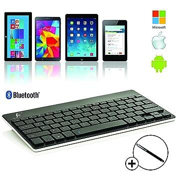 Forefront Cases® Nuevo Teclado Bluetooth Inalámbrico con Compatibilidad Universal: Amazon.es: Electrónica