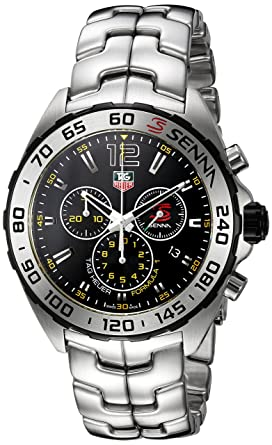 6f6d44c97b12 Image Unavailable. Image not available for. Color  TAG Heuer Men s  Formula  1 Senna  Swiss Quartz Stainless Steel Dress Watch ...